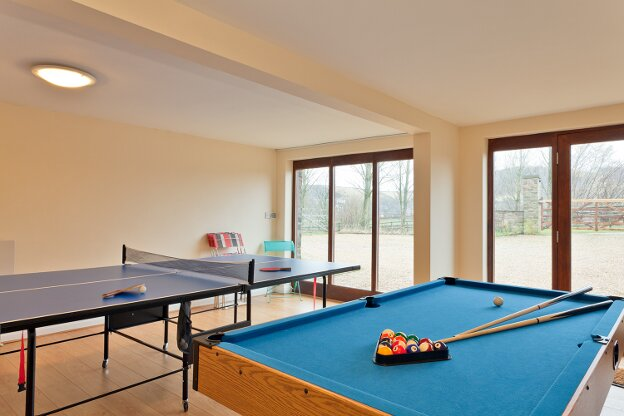 The shared games room