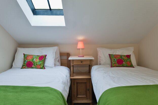 Damson twin bedroom